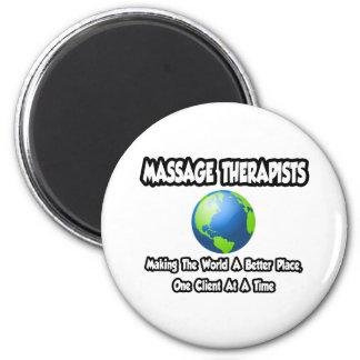 Imã Mundo dos terapeutas da massagem… um lugar melhor