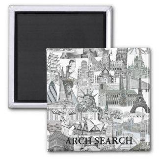 Imã Mural Arch Search Quadrado