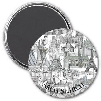 Imã Mural Arch Search Redondo Grande