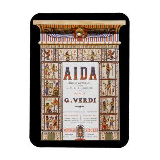 Ímã Música da ópera do vintage, egípcio Aida por Verdi