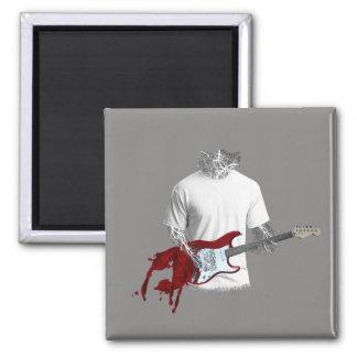 Imã Músico abstrato que joga a guitarra elétrica de