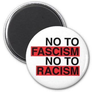 Imã Não ao fascismo não ao ímã do racismo