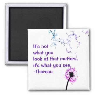 Imã Não é o que você olha o ímã de Thoreau