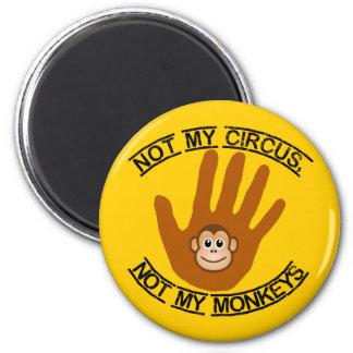 Imã Não meu circo - ímã
