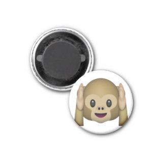 Imã Não ouça nenhum macaco mau - Emoji