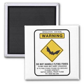 Imã Não trate raposas de vôo, sinal de tráfego, AU
