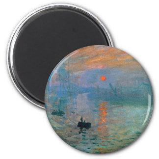 Imã Nascer do sol da impressão por Claude Monet