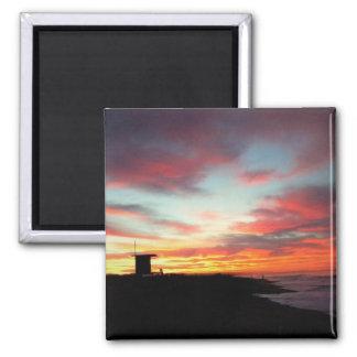 Imã Nascer do sol na praia de Newport, CA