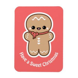 Ímã Natal bonito do homem de pão-de-espécie