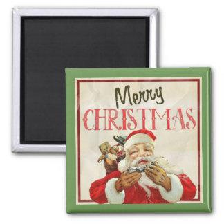 Imã Natal clássico de Papai Noel do vintage
