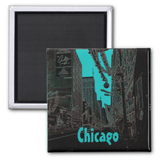 Imã Natal da rua do estado de Chicago @ 1967 bordas de