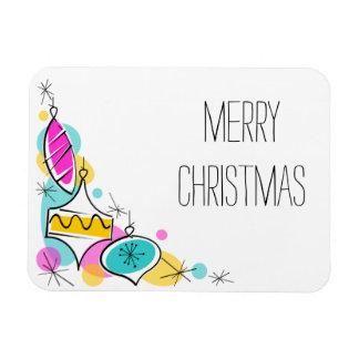 Ímã Natal de canto dos Baubles retros da árvore