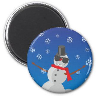 Imã Natal do inverno da neve do homem da neve
