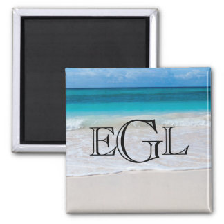 Imã Náutico do monograma da praia personalizado