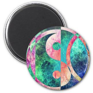 Imã Nebulosa abstrata de Yin Yang