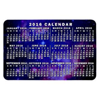 Ímã Nebulosa mensal do espaço do calendário de 2016