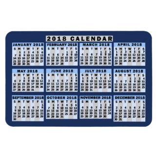 Ímã Negócio fácil de ler do calendário mensal de 2018