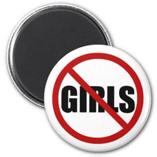 Imã Nenhumas meninas permitidas o ímã da tipografia do