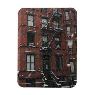 Ímã Neve superior do escape de fogo NYC do Brownstone
