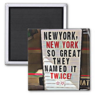 Imã New York, cartão da lembrança de New York