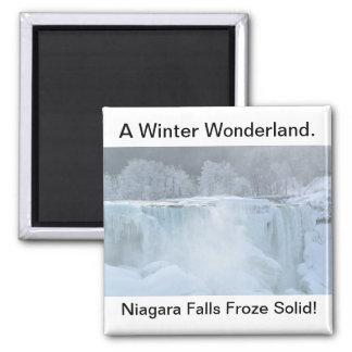 Imã Niagara Falls congelou o ímã contínuo