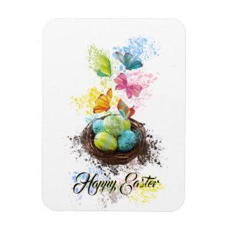 Ímã Ninho & borboletas dos ovos da páscoa do respingo