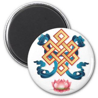 Imã Nó infinito do símbolo da religião do Mongolian