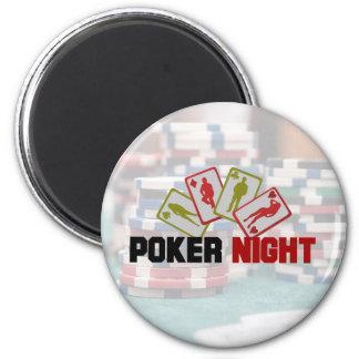 Imã Noite do póquer com cartões de jogo e