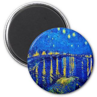 Imã Noite estrelado de Van Gogh sobre Rhone