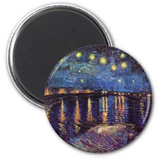 Imã Noite estrelado sobre o Rhone por Van Gogh