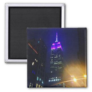 Imã Noite roxa do Empire State Building do