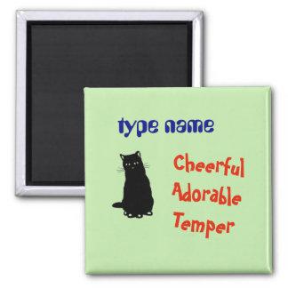 Imã Nome do gato do ímã do refrigerador personalizado