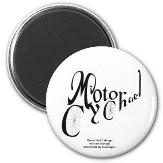 Imã Nomeie esse DES de T:  Michael M. Motocicleta Ímã