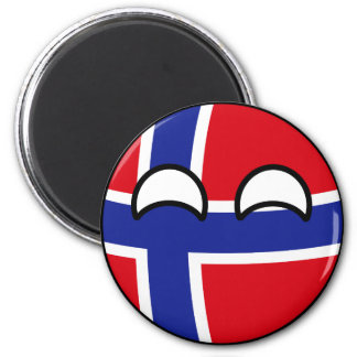 Imã Noruega Geeky de tensão engraçada Countryball