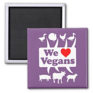 Imã Nós amamos os Vegans II (brancos)