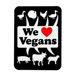 Ímã Nós amamos os Vegans II (brancos)