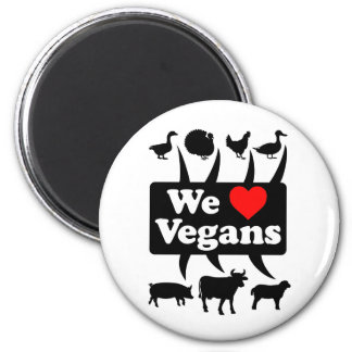Imã Nós amamos Vegans II (o preto)