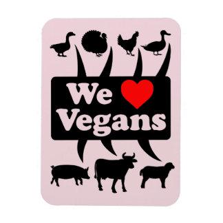 Ímã Nós amamos Vegans II (o preto)