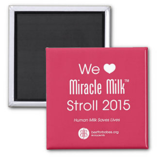 Imã Nós ímã do Stroll do leite do milagre do coração