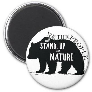 Imã Nós que as pessoas representam acima a natureza -