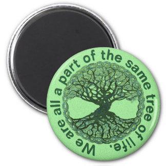Imã Nós somos todos os uma parte da árvore de vida