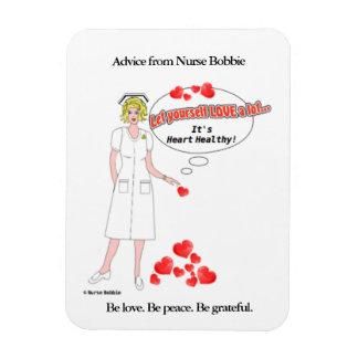 Ímã Nutra o lembrete de Bobbie que o amor é coração