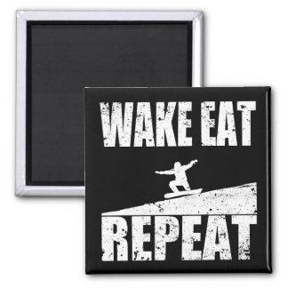 Imã O acordar come a repetição #2 do Snowboard