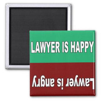 Imã O advogado é ímã feliz e irritado