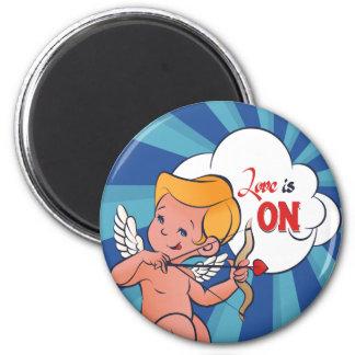 Imã O amor da volta do arqueiro do Cupido está no pop