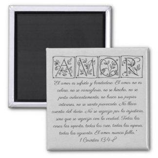 Imã O amor de Amor… é… escritura Magnet~Spanish