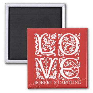 Imã O amor decorativo do alfabeto adiciona nomes