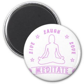 Imã O amor vivo do riso Meditate texto fêmea (o néon)