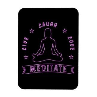 Ímã O amor vivo do riso Meditate texto fêmea (o néon)