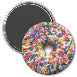 Imã O arco-íris polvilha a rosquinha ímã redondo de 3